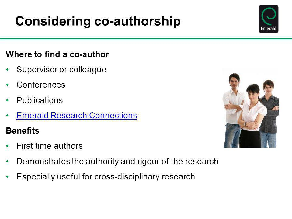 Considering co-authorship