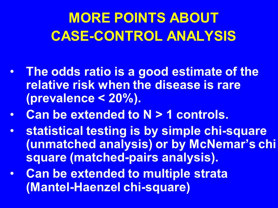 CASE-CONTROL ANALYSIS