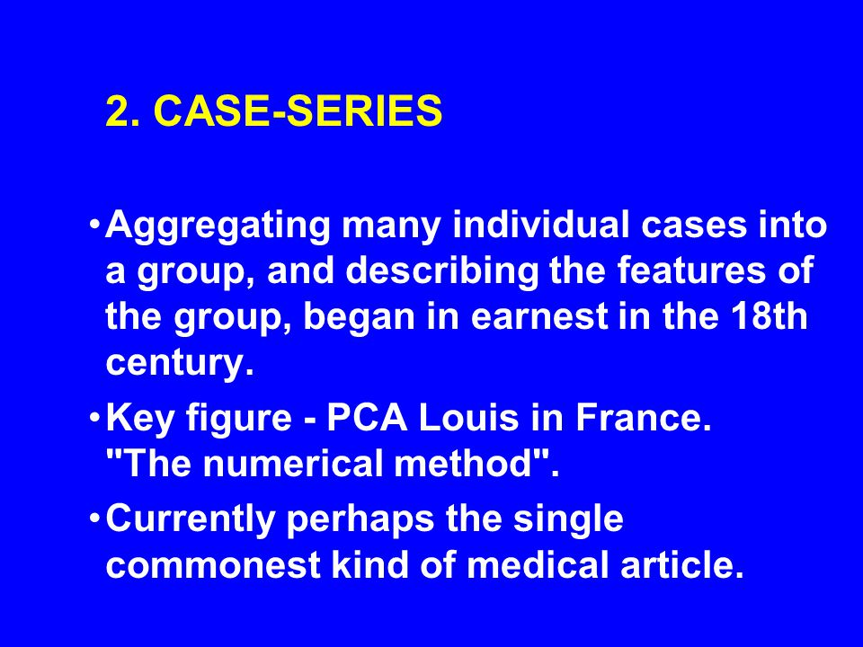 Key figure - PCA Louis in France. The numerical method .