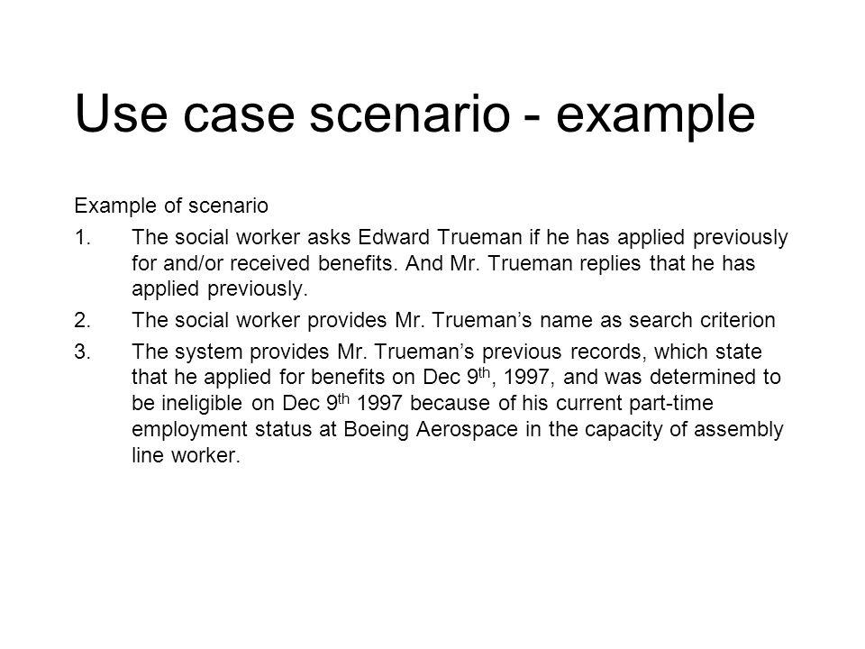 Use case scenario - example
