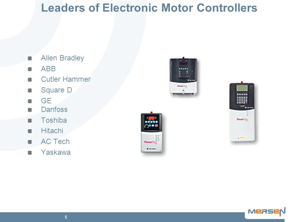 Leaders of Electronic Motor Controllers
