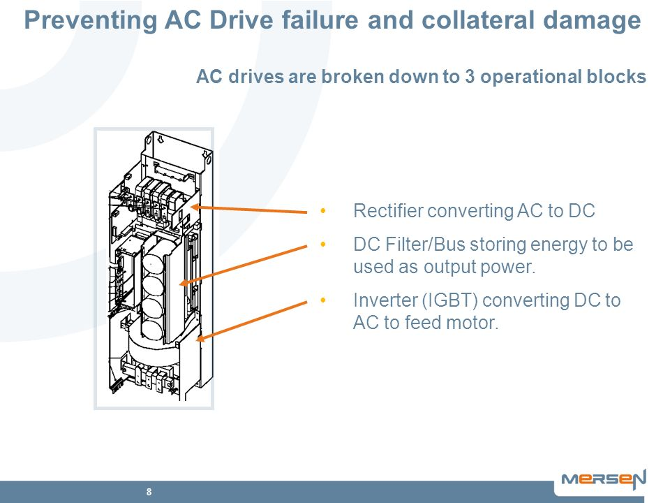 AC drives are broken down to 3 operational blocks