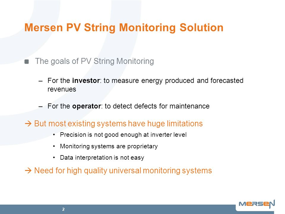 Mersen PV String Monitoring Solution