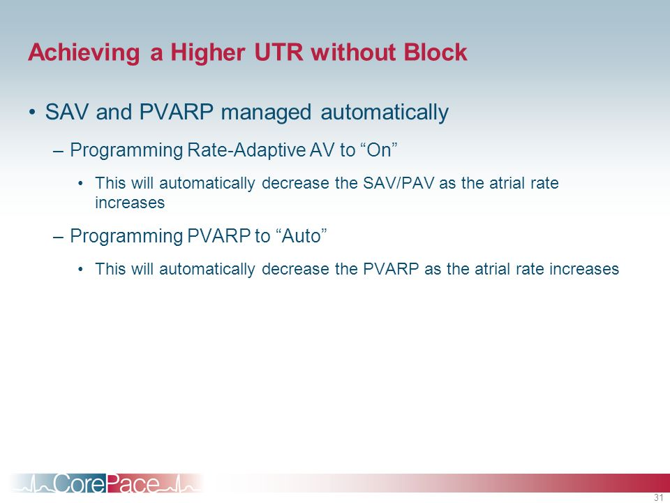 Achieving a Higher UTR without Block