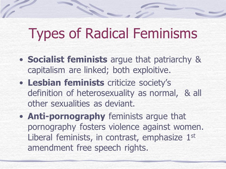 Types of Radical Feminisms