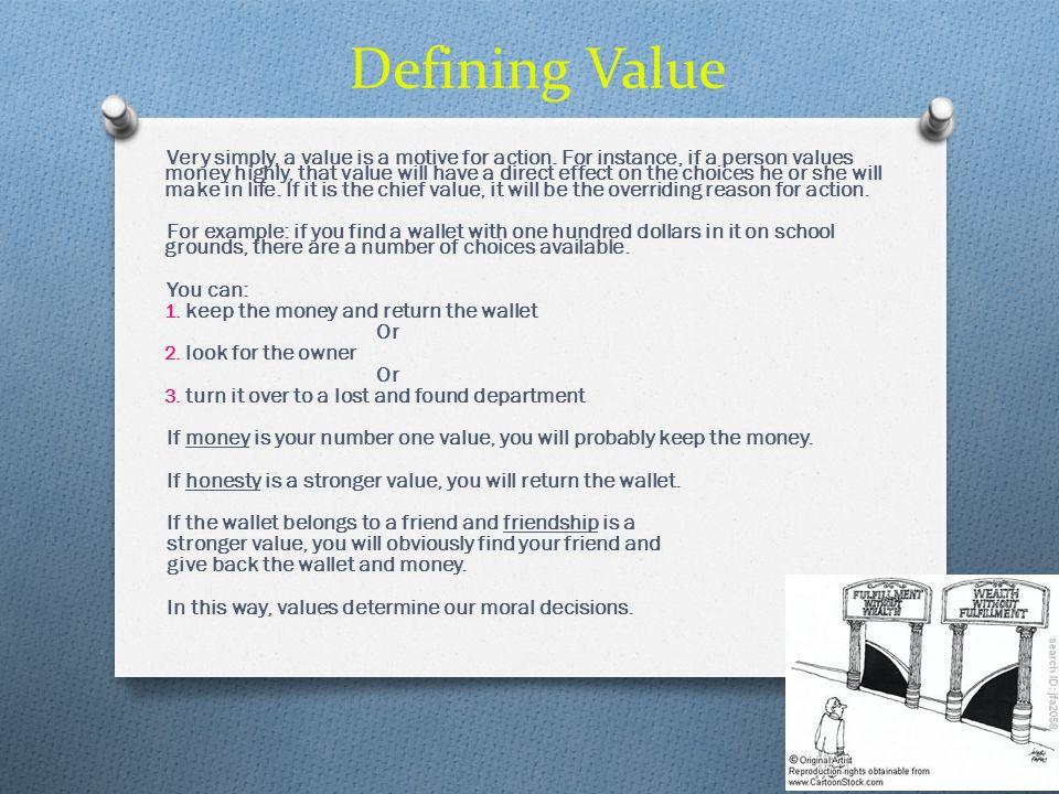 Defining Value