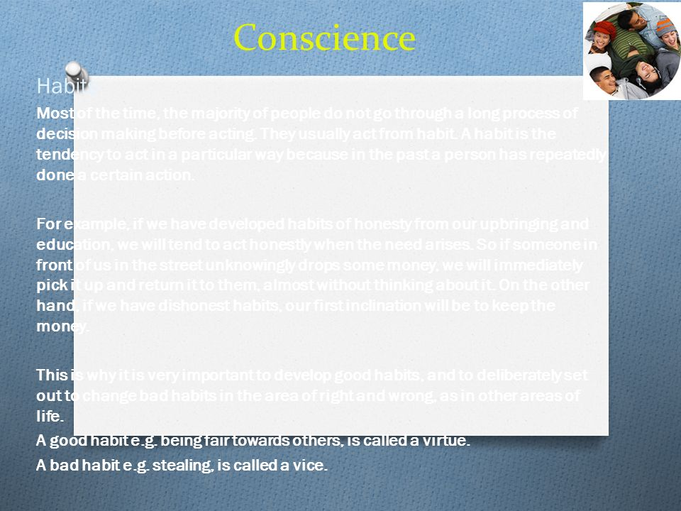 Conscience Habits.