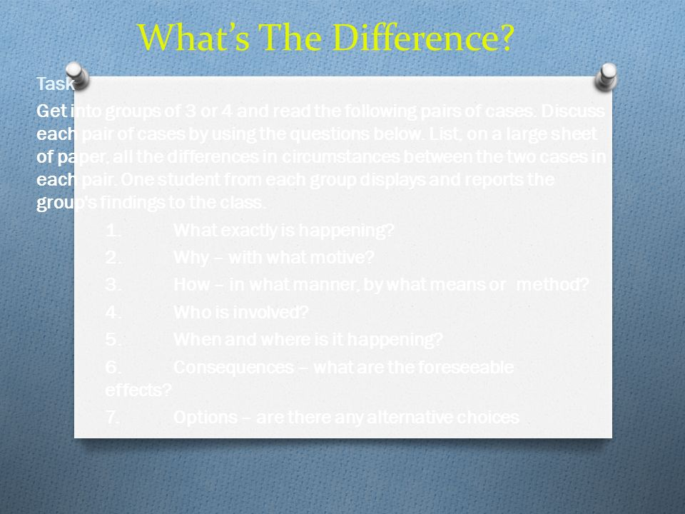 What's The Difference Task