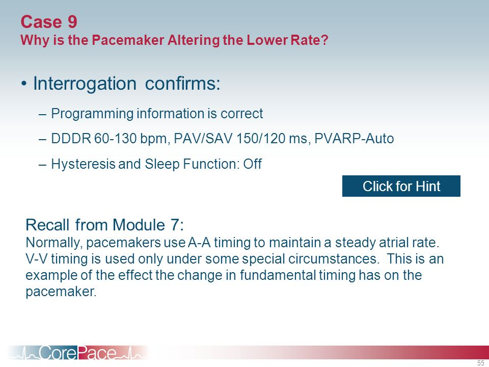 Case 9 Why is the Pacemaker Altering the Lower Rate