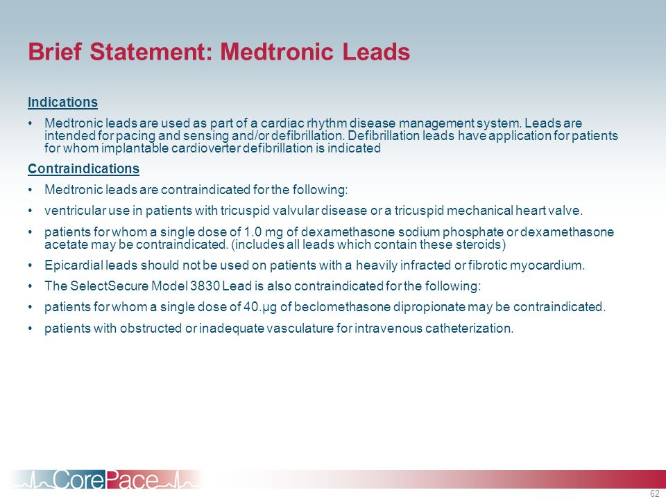 Brief Statement: Medtronic Leads