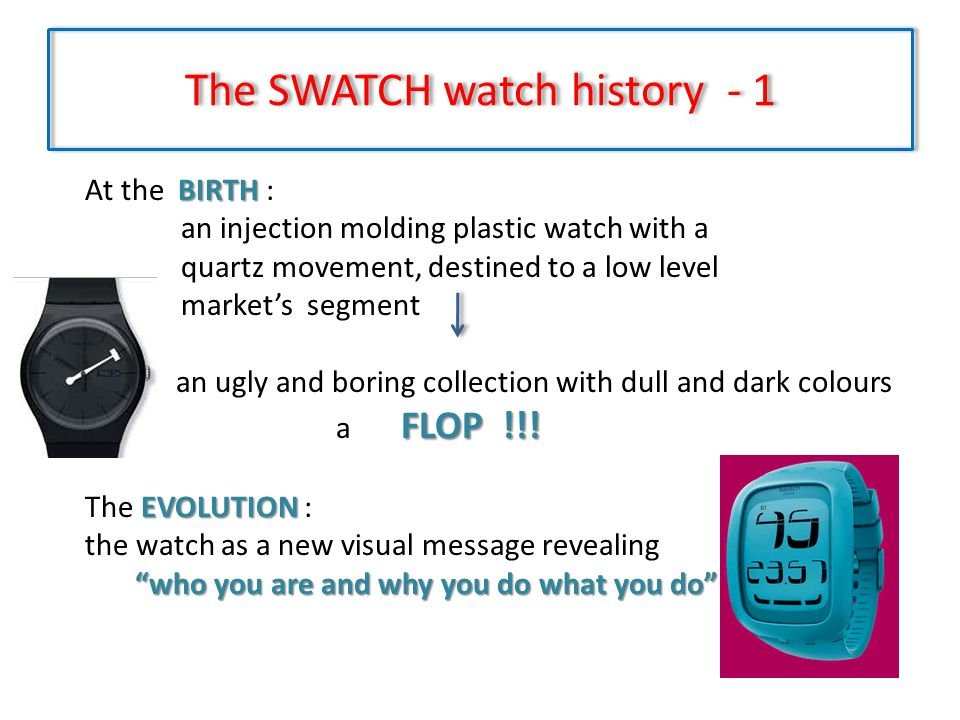 The SWATCH watch history - 1