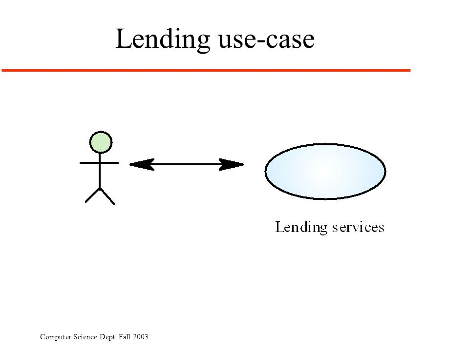Lending use-case Computer Science Dept. Fall 2003