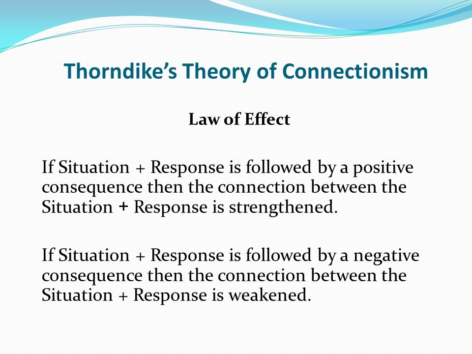 Thorndike's Theory of Connectionism