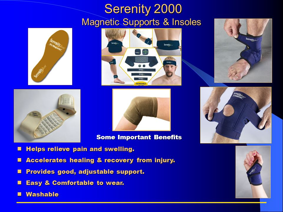 Serenity 2000 Magnetic Supports & Insoles