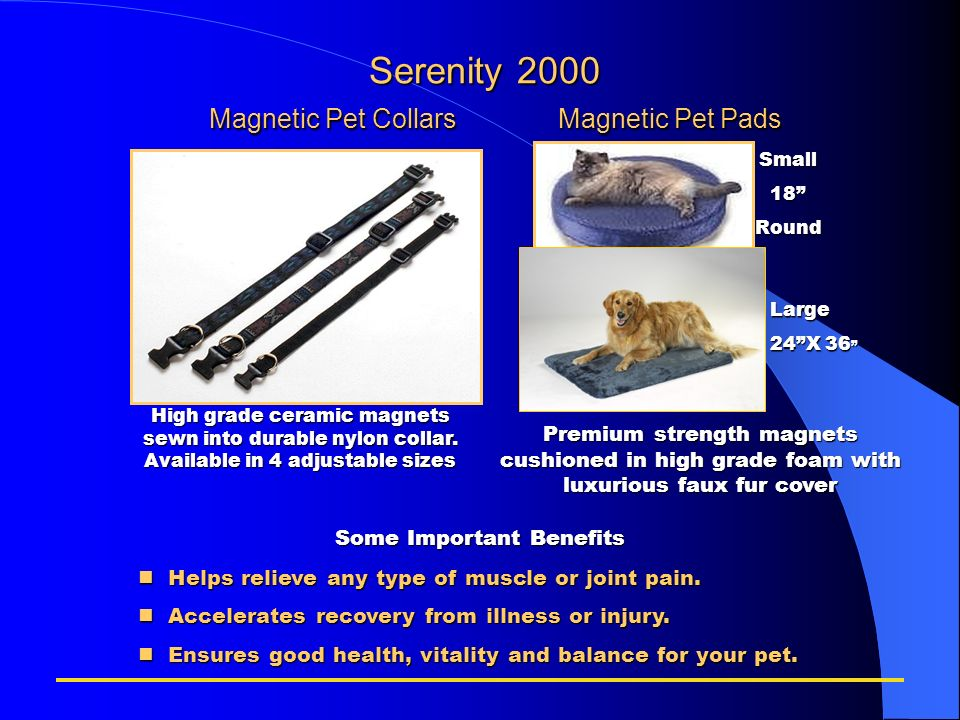 Serenity 2000 Magnetic Pet Collars Magnetic Pet Pads