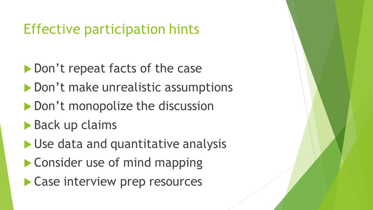 Effective participation hints