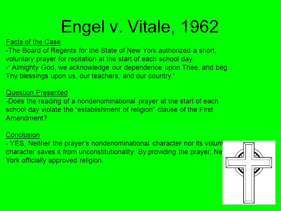 Engel v. Vitale, 1962 Facts of the Case