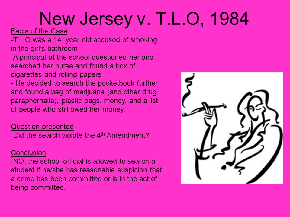New Jersey v. T.L.O, 1984 Facts of the Case