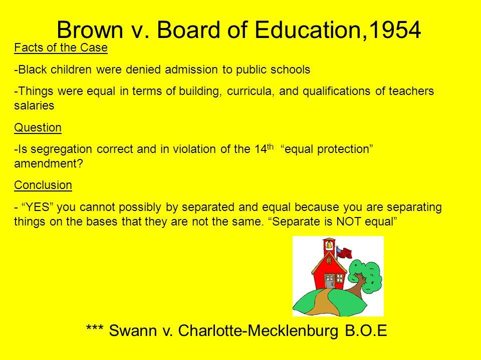 Brown v. Board of Education,1954