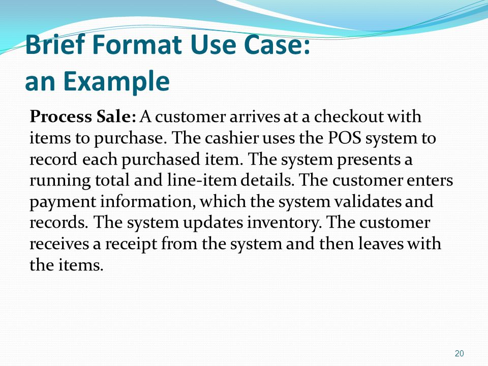 Brief Format Use Case: an Example
