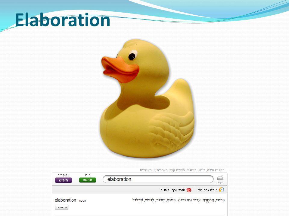 Elaboration http://en.wikipedia.org/wiki/Rubber_duck_debugging