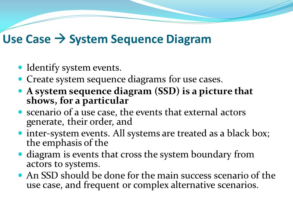 Use Case  System Sequence Diagram