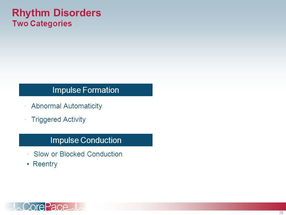 Rhythm Disorders Two Categories