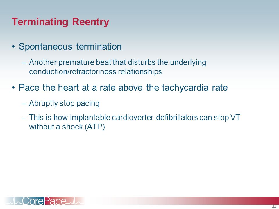 Terminating Reentry Spontaneous termination