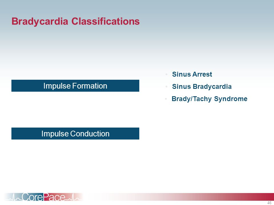 Bradycardia Classifications