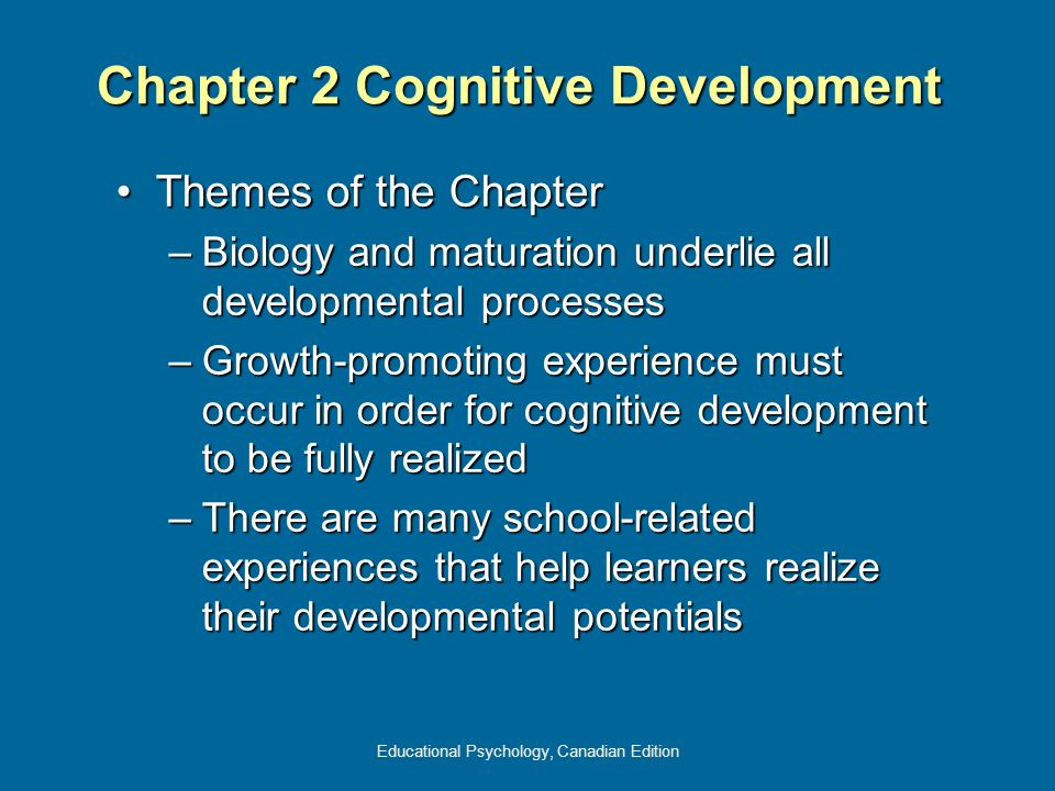 Chapter 2 Cognitive Development
