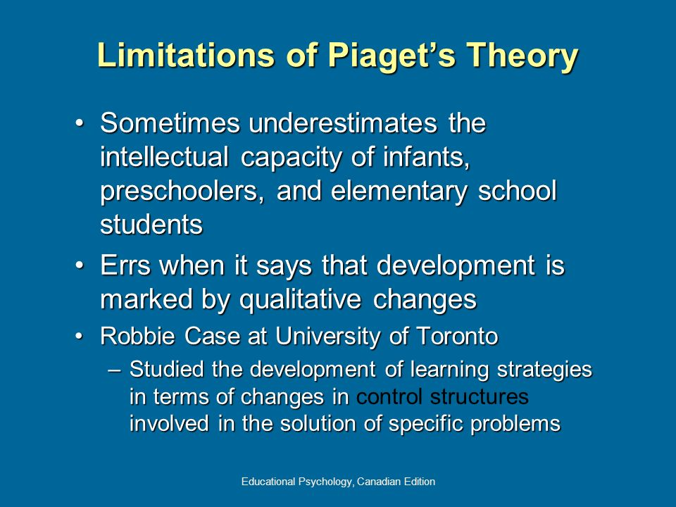 Limitations of Piaget's Theory