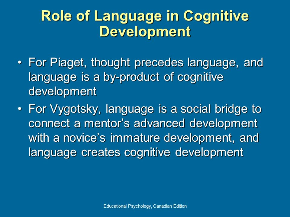 Role of Language in Cognitive Development