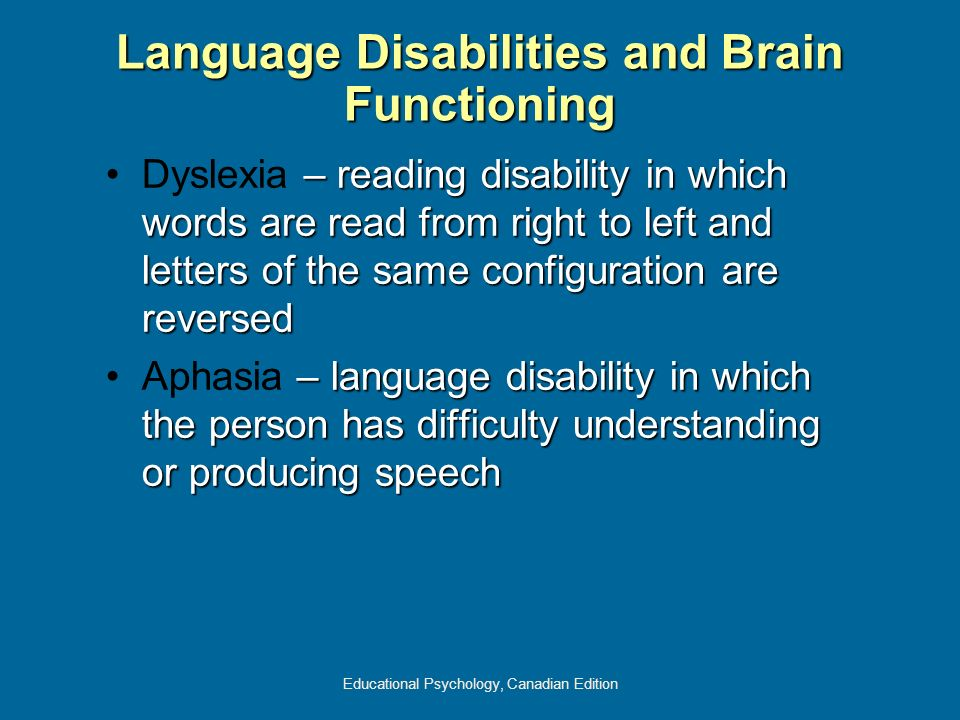 Language Disabilities and Brain Functioning