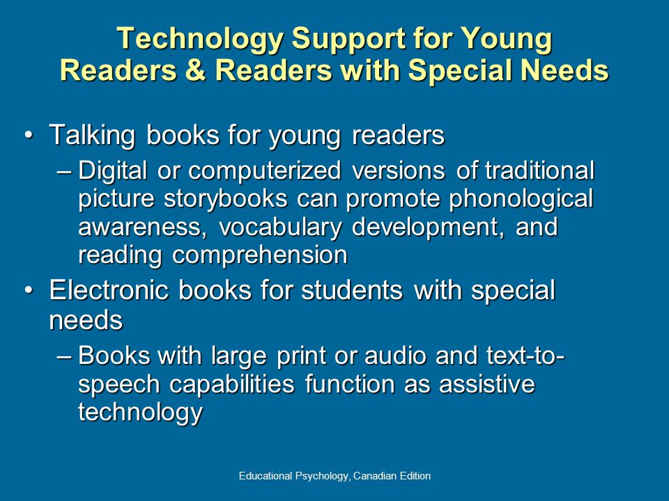 Technology Support for Young Readers & Readers with Special Needs
