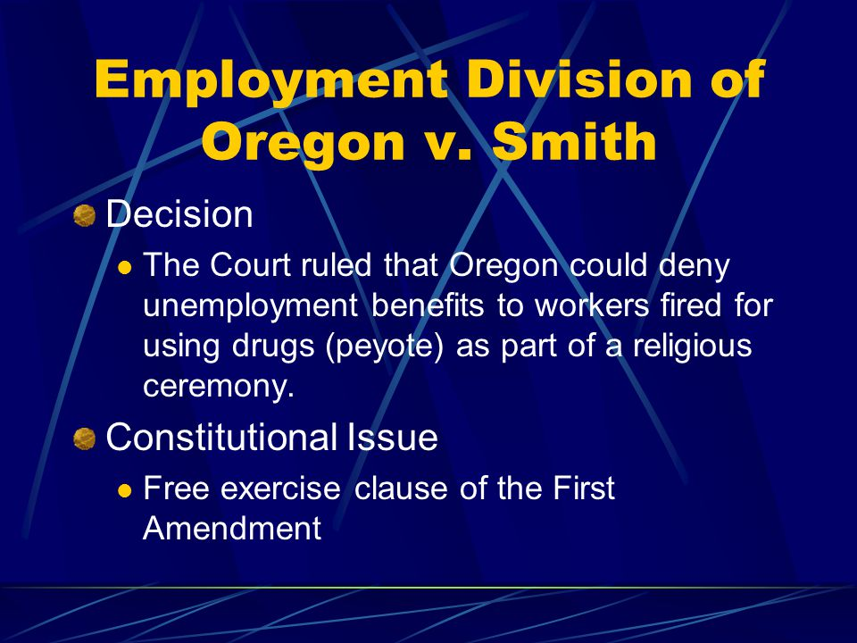 Employment Division of Oregon v. Smith