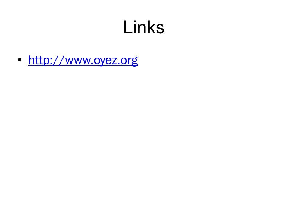 Links http://www.oyez.org
