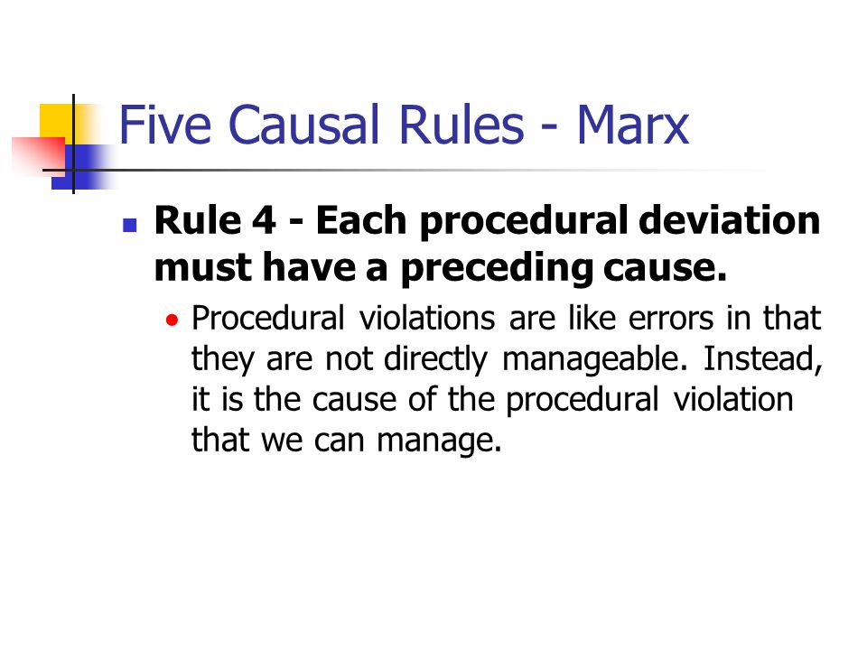 Five Causal Rules - Marx
