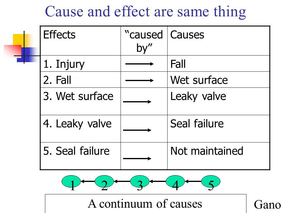 Cause and effect are same thing
