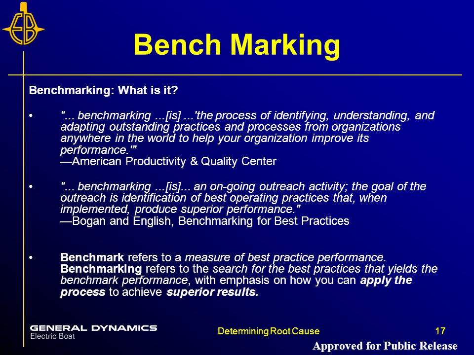 Bench Marking Benchmarking: What is it