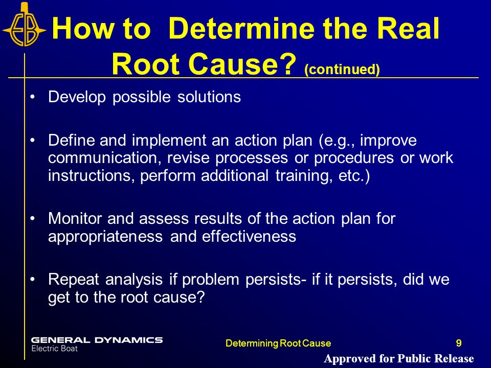 How to Determine the Real Root Cause (continued)