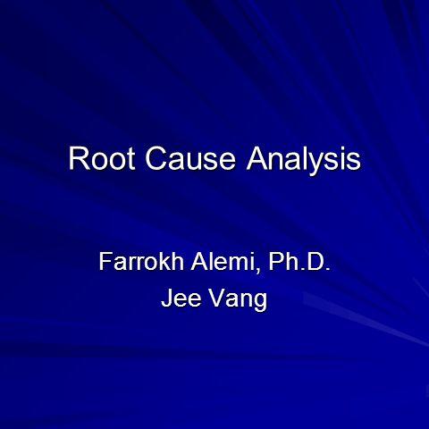 Farrokh Alemi, Ph.D. Jee Vang