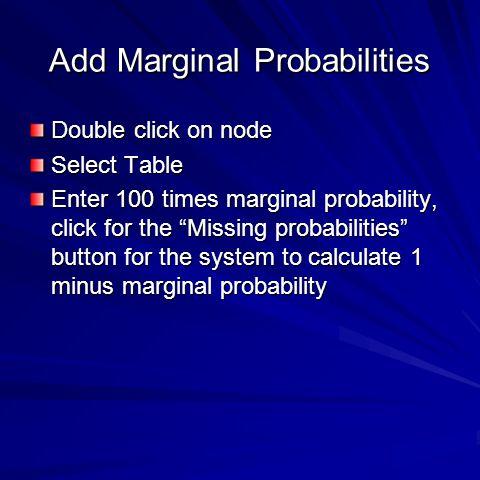 Add Marginal Probabilities