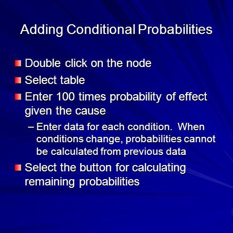 Adding Conditional Probabilities