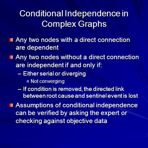 Conditional Independence in Complex Graphs