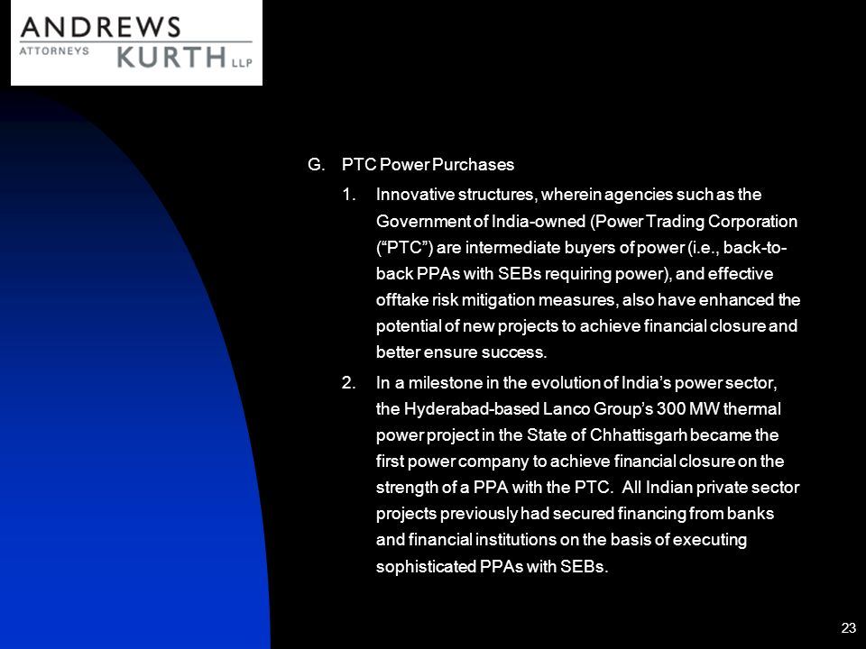 PTC Power Purchases