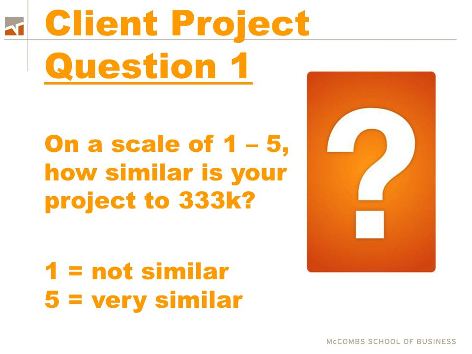 Client Project Question 1