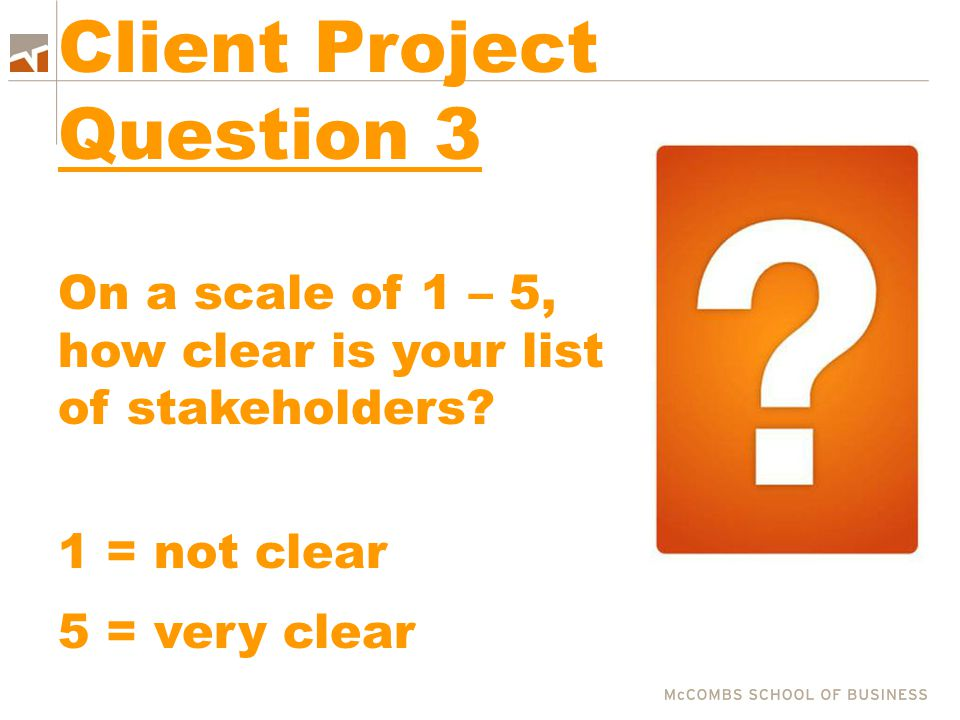 Client Project Question 3