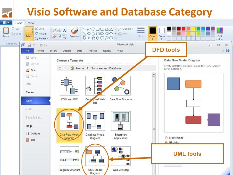 Visio Software and Database Category