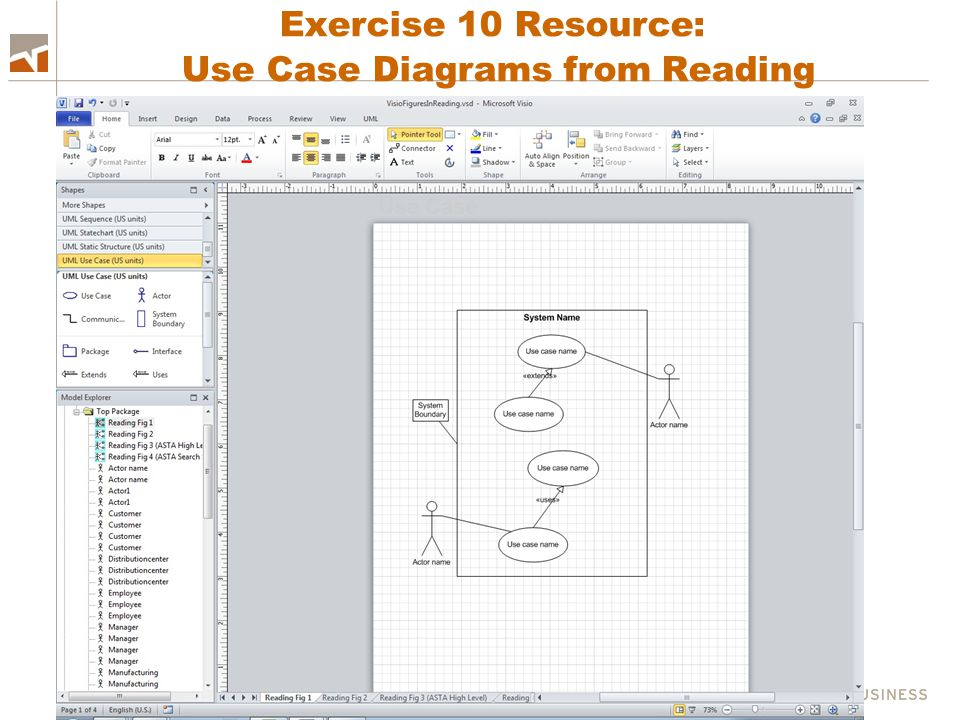 Exercise 10 Resource: Use Case Diagrams from Reading