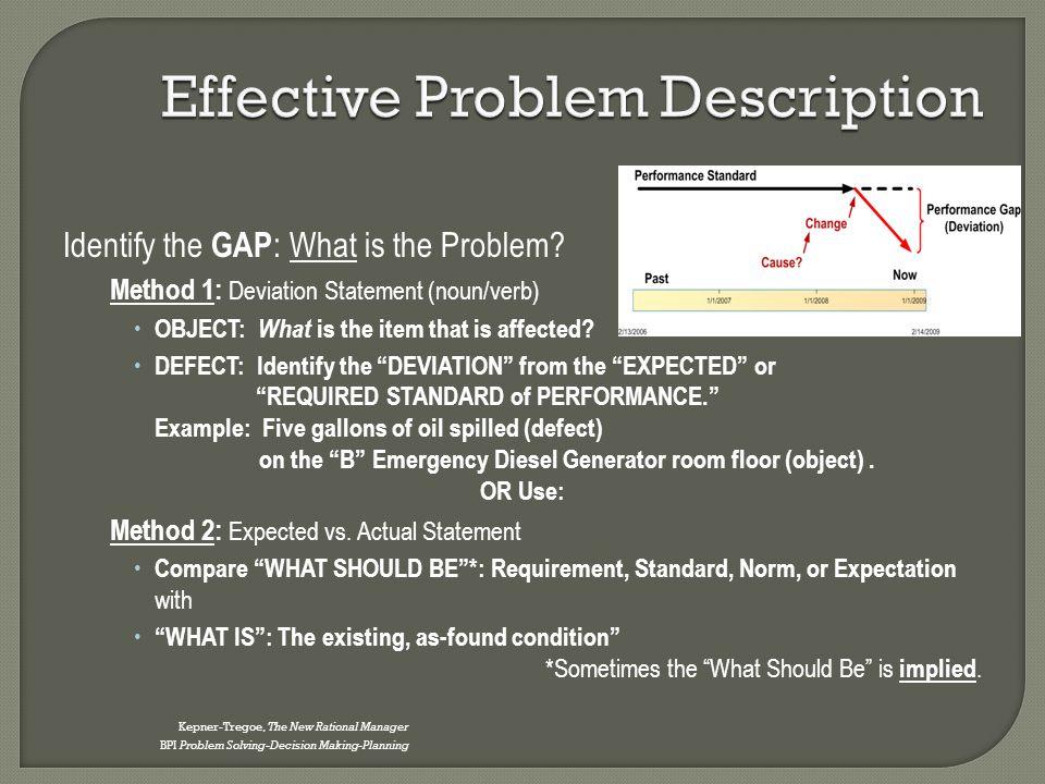 Effective Problem Description